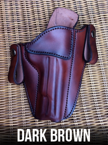 Dark Brown Leather Gun Holster